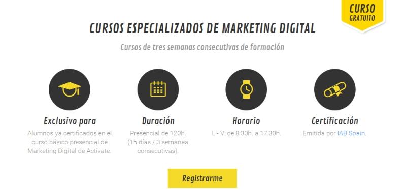 Curso Especializado de Marketing Digital en Bilbao